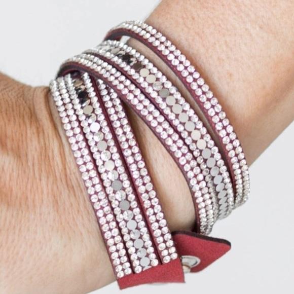K12 Red wrap bracelet